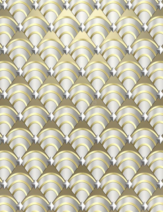 Shell van het art deco Achtergrond stock afbeeldingen