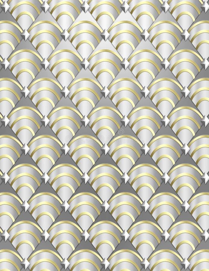 Shell van het art deco Achtergrond stock foto