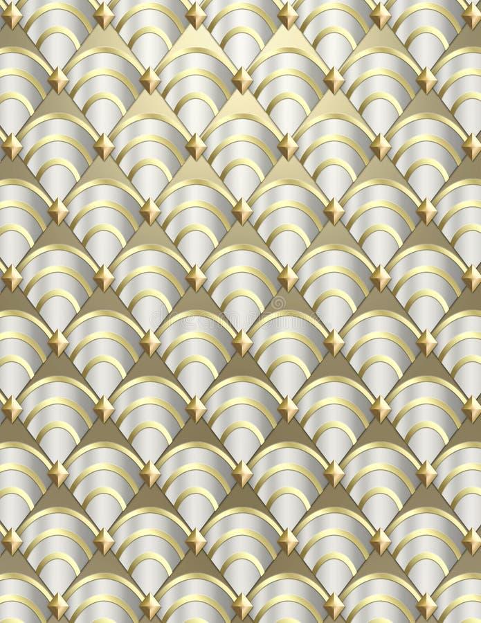 Shell van het art deco Achtergrond royalty-vrije stock fotografie