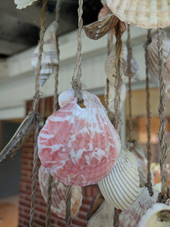 Shell-windchime stockbild