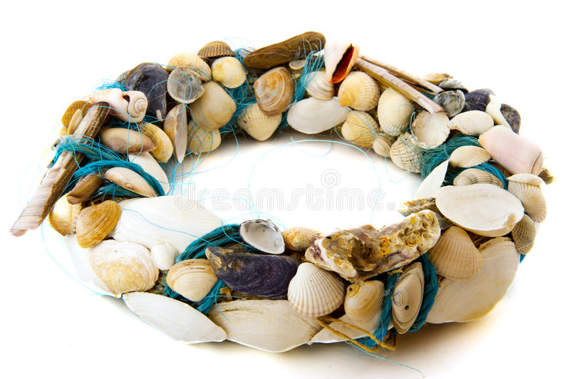 Shell wreath royalty free stock photography