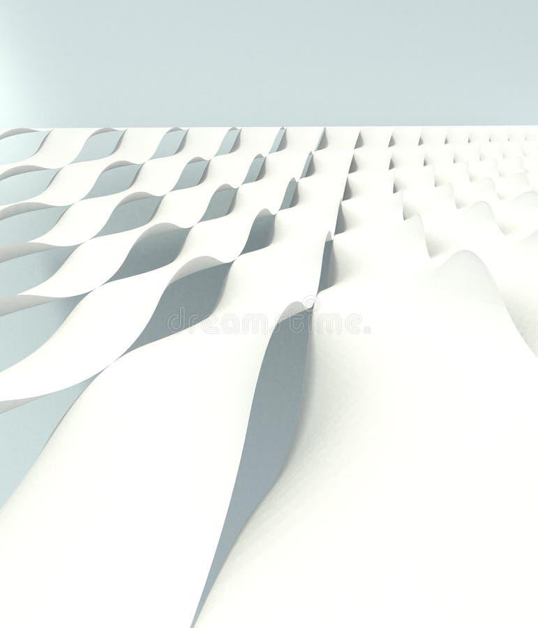 Shelles blancos de la onda stock de ilustración