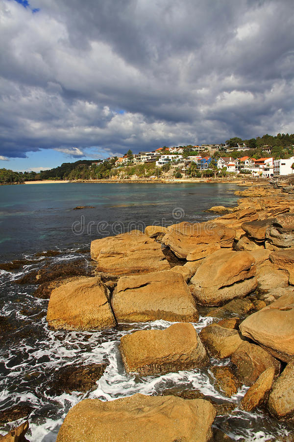 Shelley Beach, Manly. Fairy Bower and Shelley Beach in Manly stock image