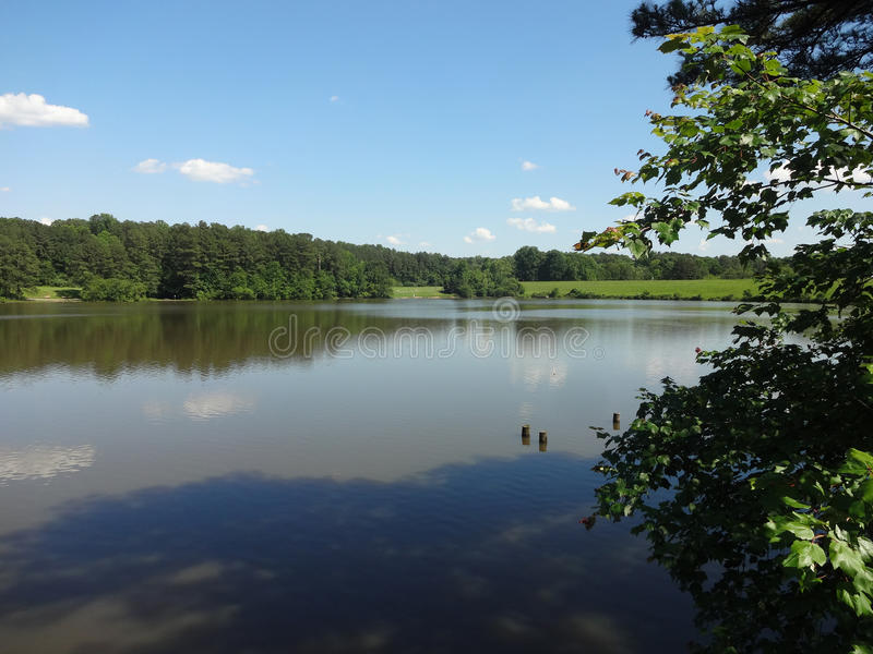 Shelley Lake, Noord-Carolina royalty-vrije stock afbeeldingen