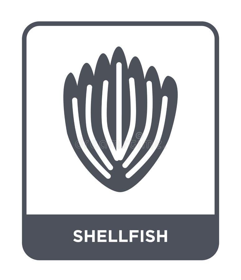 shellfish ikona w modnym projekta stylu shellfish ikona odizolowywająca na białym tle shellfish wektorowej ikony prosty i nowożyt royalty ilustracja