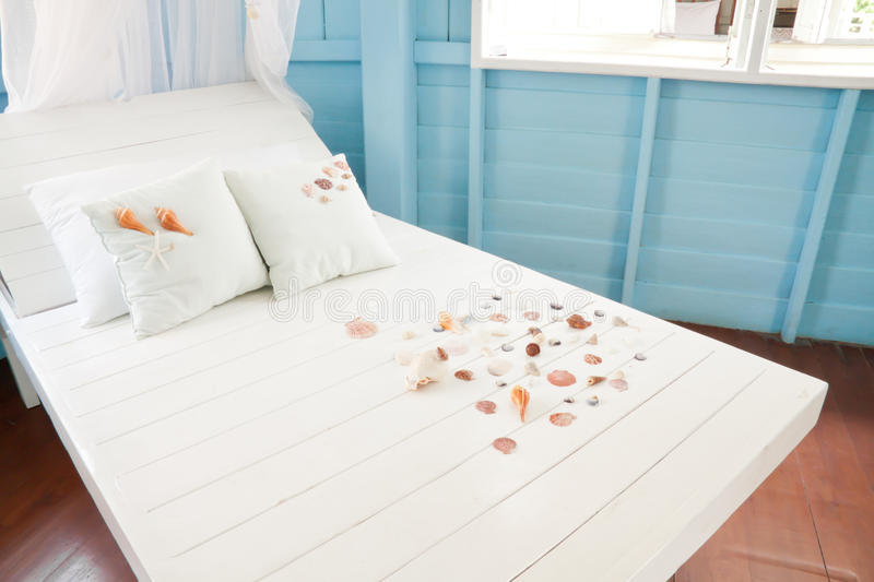 Download Shellfish With White Pillow On The Bed Stock Photo - Image: 23898832