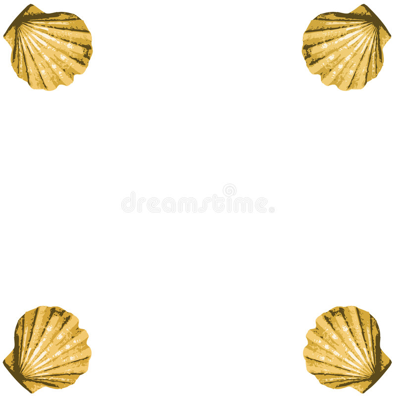 Shells frame (vector). Abstract background made to the computer stock illustration