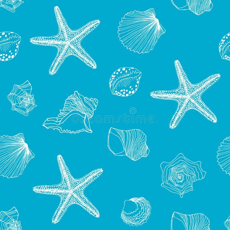 Shells patroon royalty-vrije illustratie