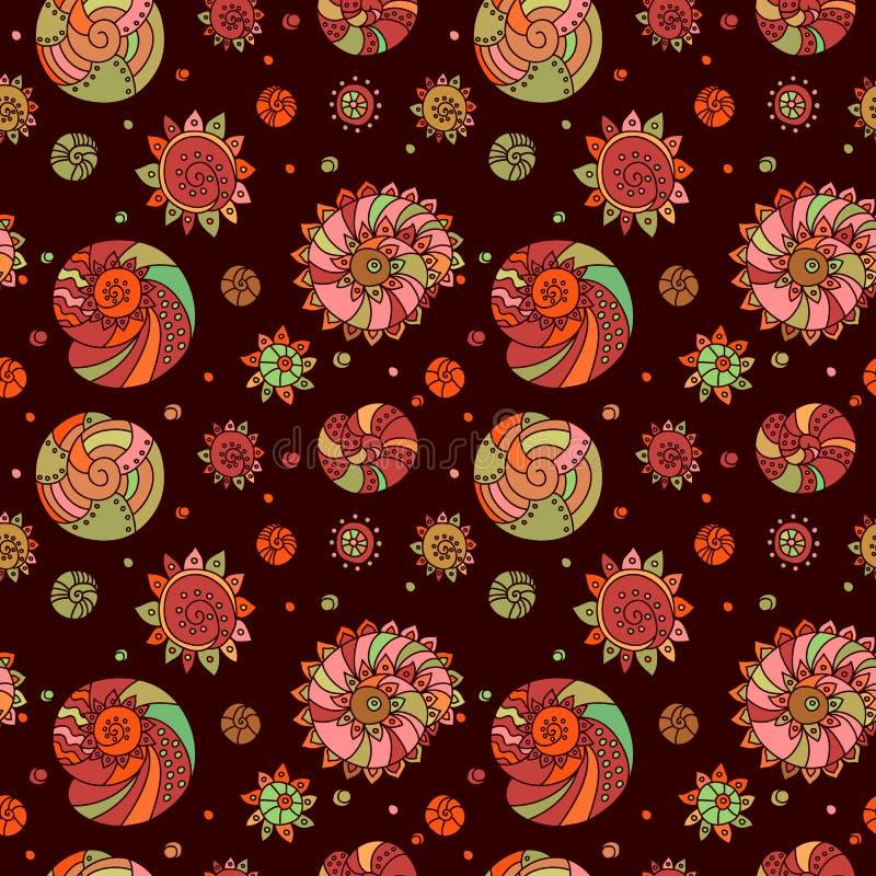 Shells seamless pattern background stock photos