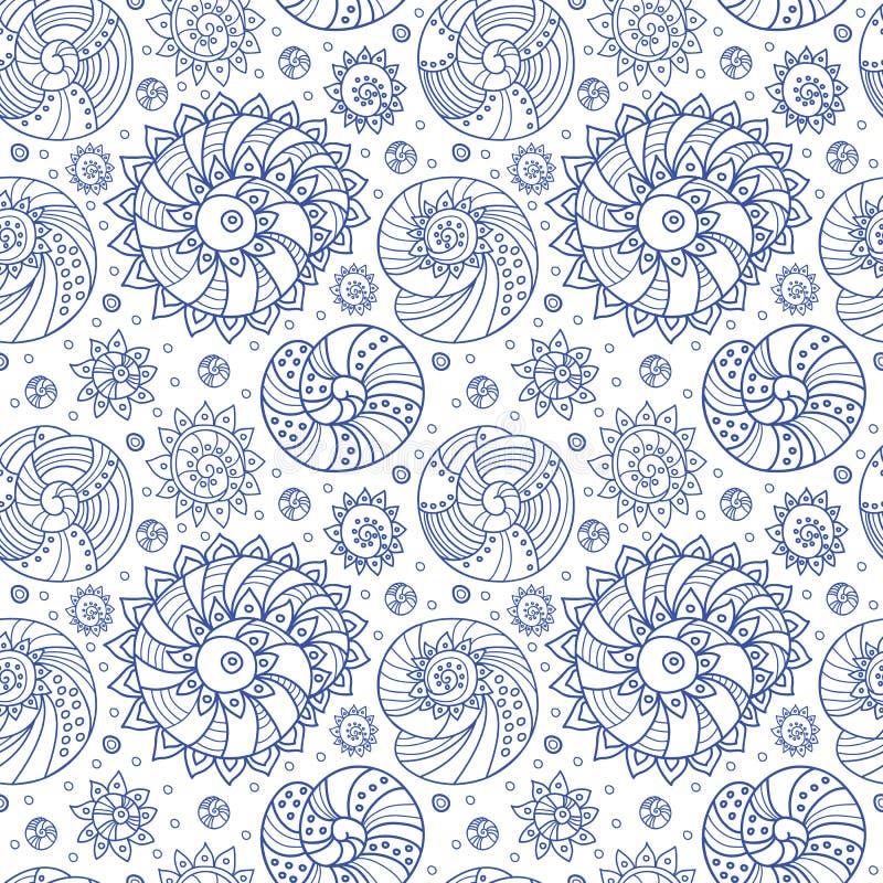 Shells seamless pattern stock photos