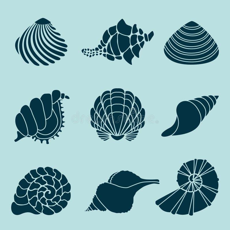 Shells van de Zwarte Zee vector illustratie
