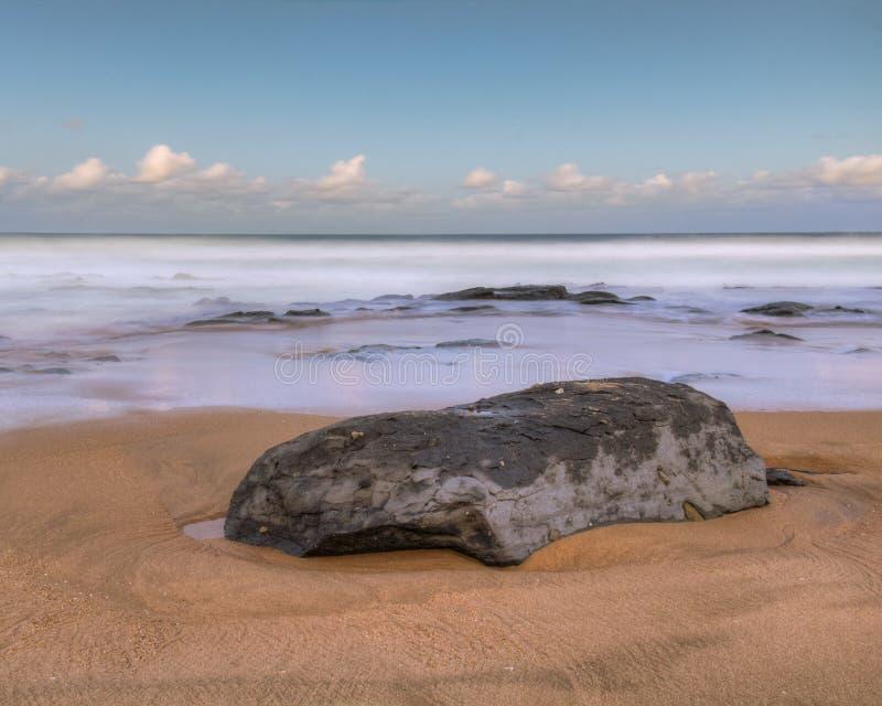 Shelly plażowy zmierzchu lonu ujawnienie zdjęcia stock