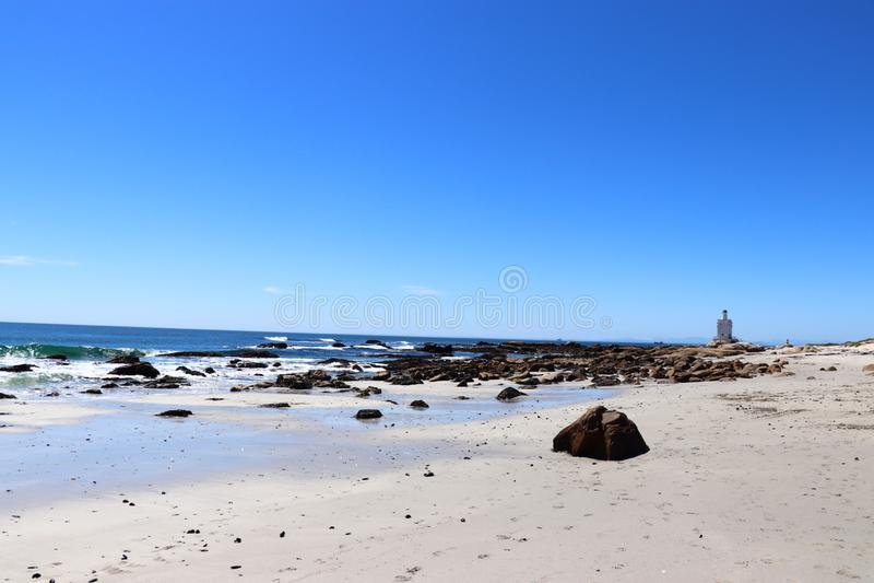 Shelly punkt latarnia morska zdjęcie royalty free