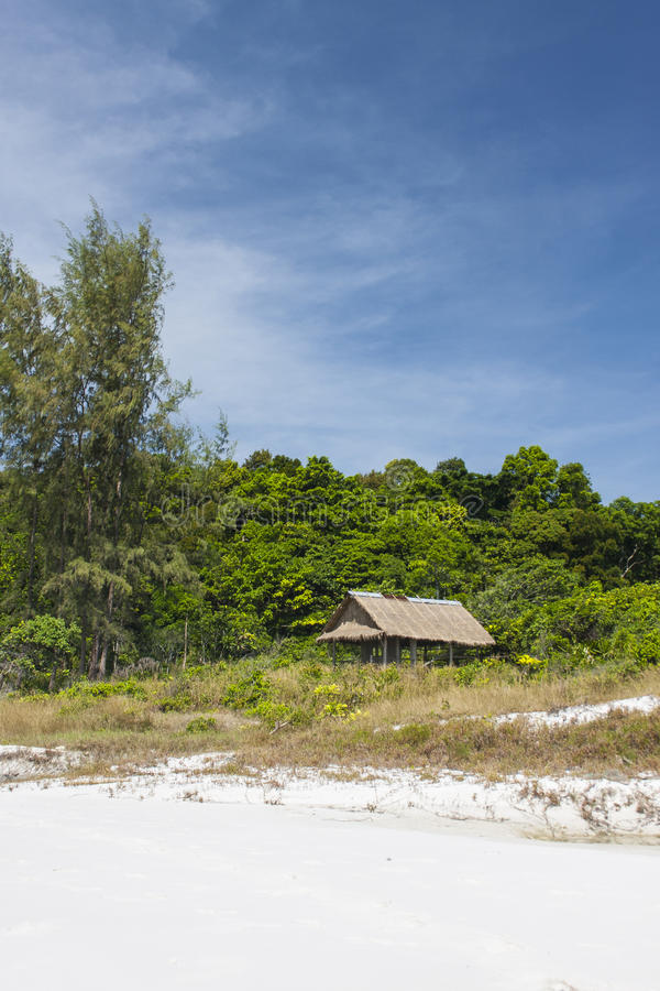 Shelter on beautiful beach in Asia royalty free stock photo
