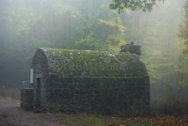 Shelter in the mist royalty free stock photography