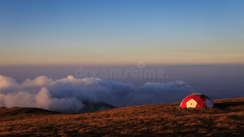 The shelter in the Romanian Carpathian mountains. In this photo you can see the shelter in the Romanian Carpathian mountains royalty free stock photos