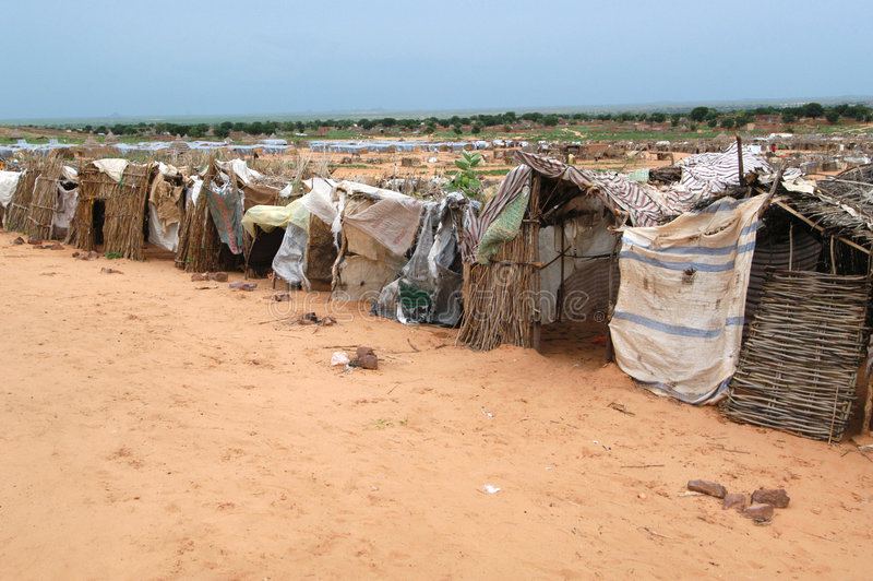 Download Shelters in Darfur editorial stock photo. Image of rain - 7667883