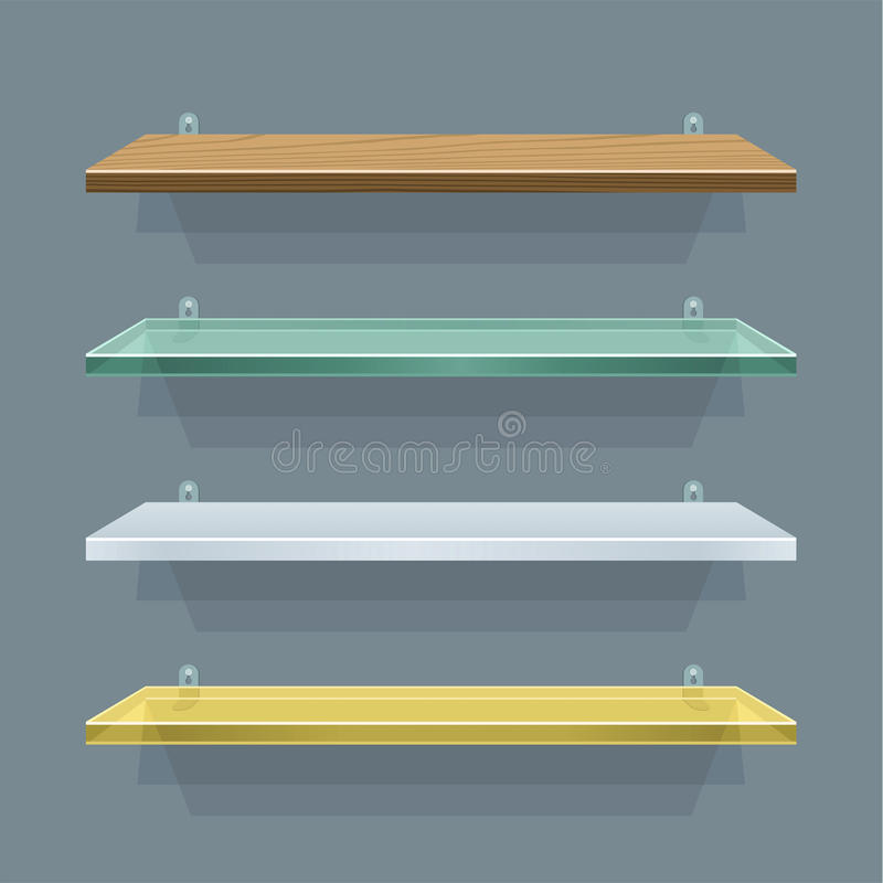 Download Shelves stock vector. Illustration of shop, simplicity - 25871540