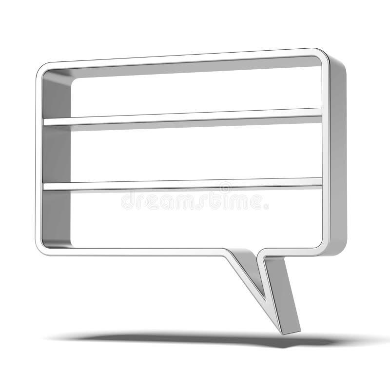 Download Shelves as bubbles speech stock illustration. Image of design - 34679115