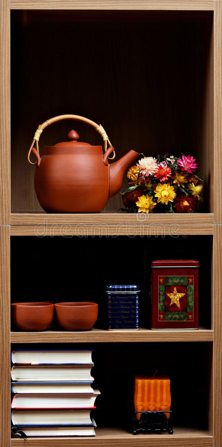 Download Shelves With Different Objects Stock Image - Image: 19010981