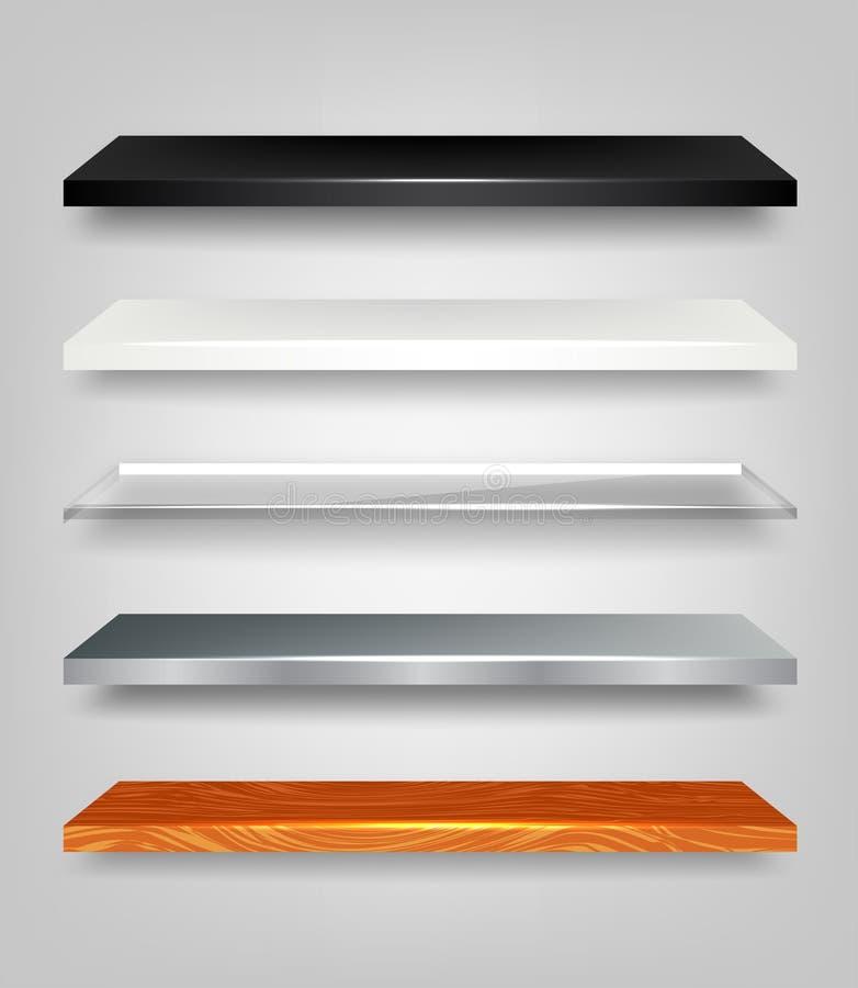 Shelves Set vector illustration