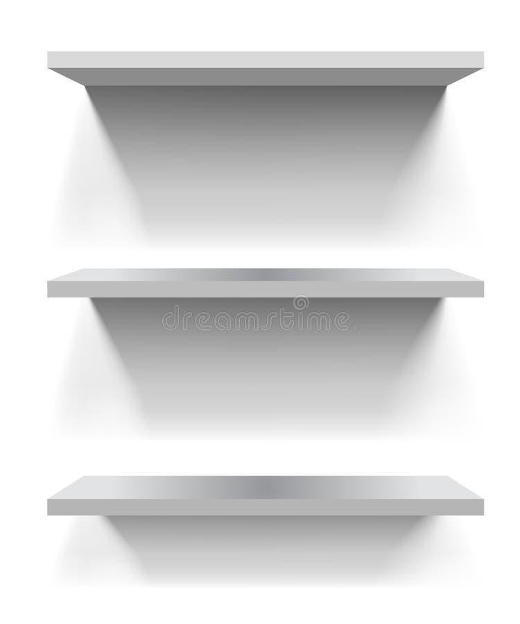 shelves white royaltyfri illustrationer