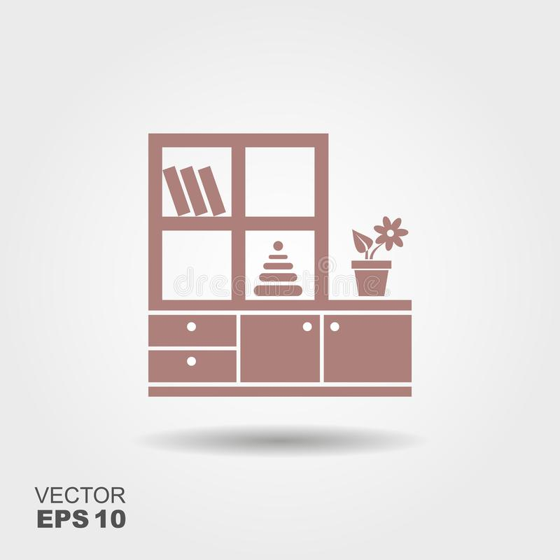 Furniture for nursery. Vector icon stock illustration