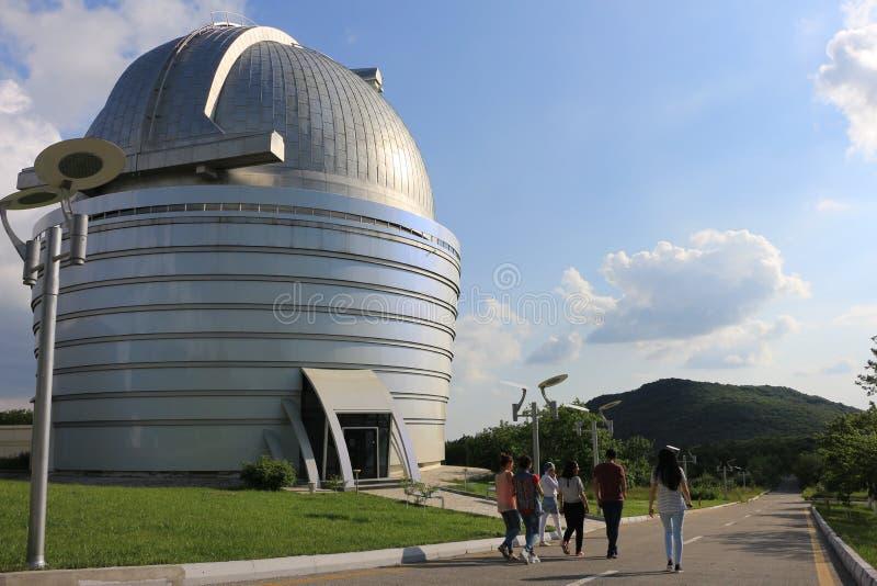Shemakha-Forschungs-Observatorium von Aserbaidschan stockbild