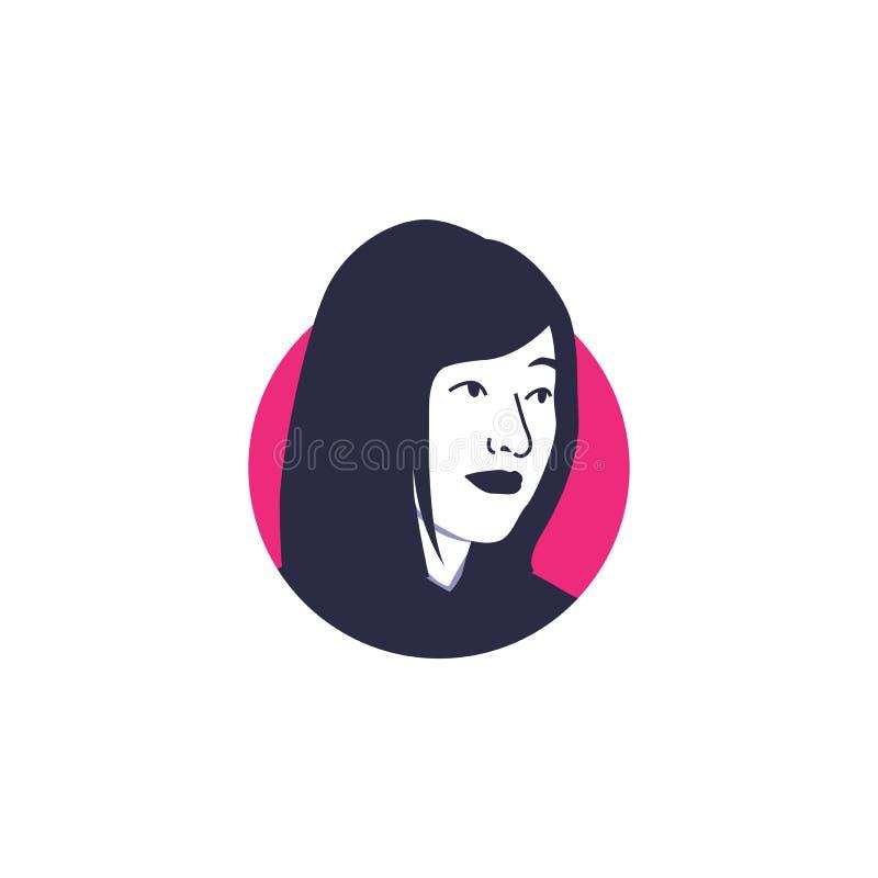 Shen Yue vänder mot isolerade Hong Kong för vektorn illustrationen aktrins arkivfoton