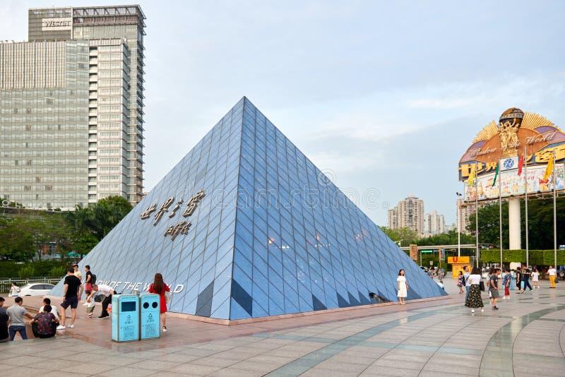 Shen Zhen Windows del mondo in Cina fotografia stock libera da diritti