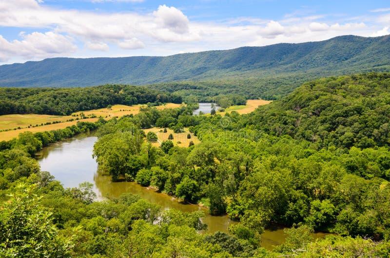 Shenandoah floddelstatspark arkivfoton