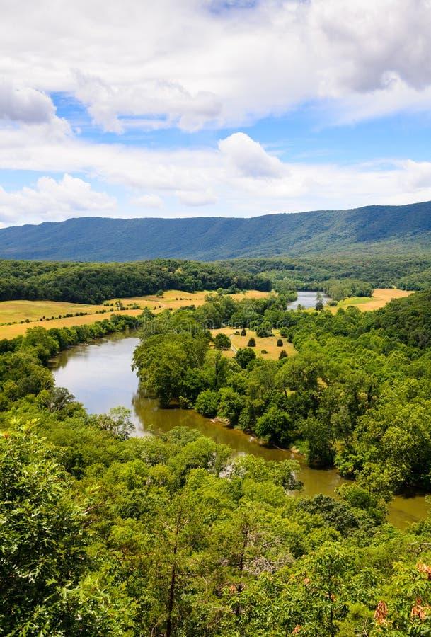 Shenandoah floddelstatspark royaltyfri foto