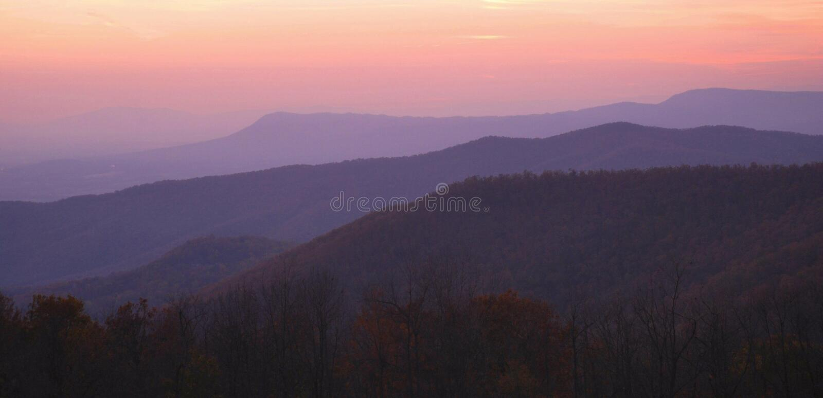 Shenandoah Sunset royalty free stock photo