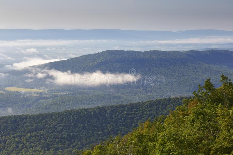 Shenandoah Valley and Mountains near Woodstock, Virginia royalty free stock image