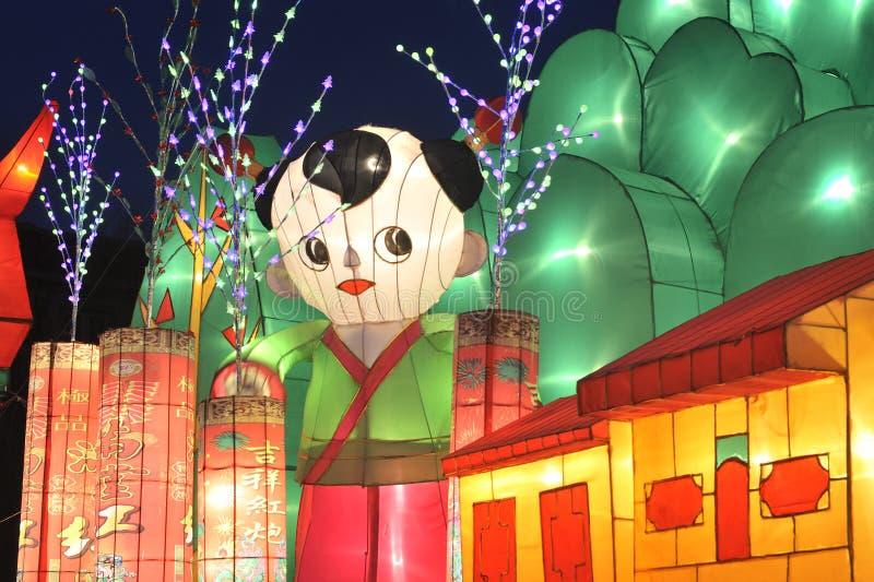 Shengjing lantern show. 2014, shenyang shengjing Lantern Festival lasted for ten days, Lantern Festival, temple fair performance will be in shenyang three street stock images