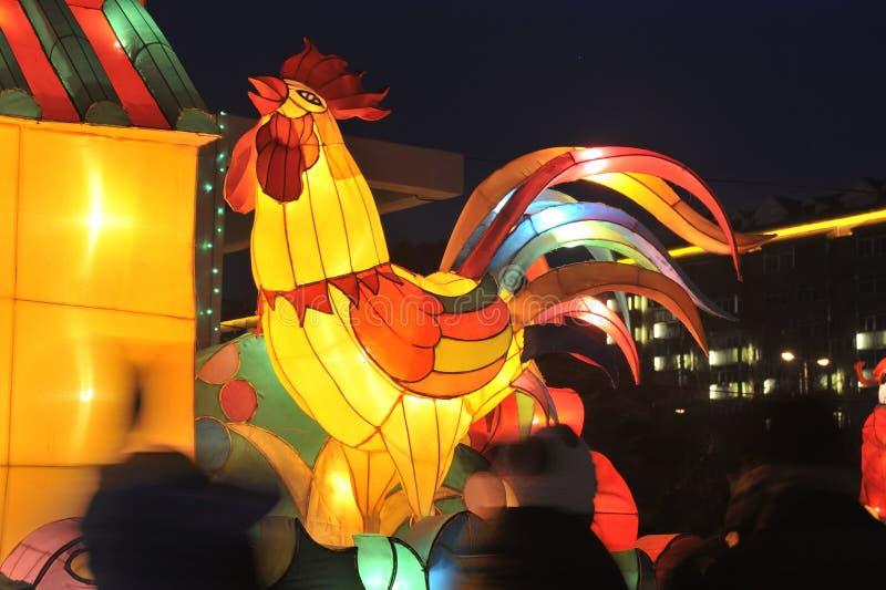 Shengjing lantern show. 2014, shenyang shengjing Lantern Festival lasted for ten days, Lantern Festival, temple fair performance will be in shenyang three street stock photo