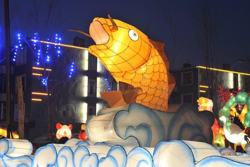Shengjing lantern show. 2014, shenyang shengjing Lantern Festival lasted for ten days, Lantern Festival, temple fair performance will be in shenyang three street stock image