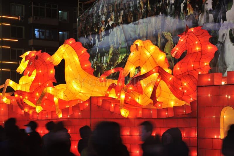 Shengjing lantern show. 2014, shenyang shengjing Lantern Festival lasted for ten days, Lantern Festival, 2014 bonanza cooks days fair festival five for lantern stock photo