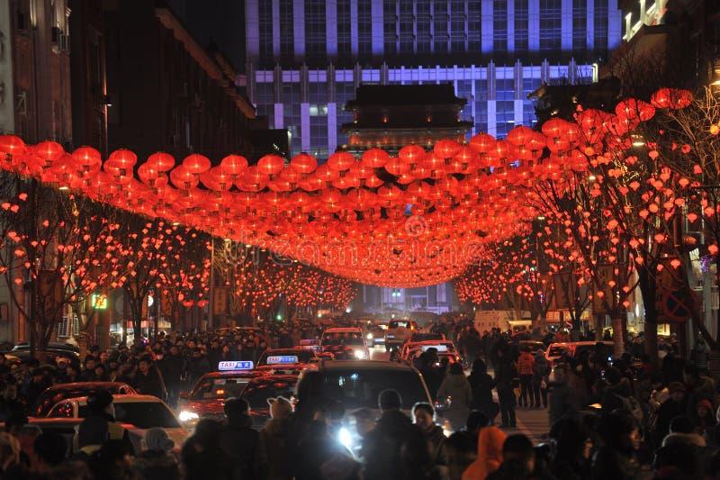 Shengjing lantern show. 2014, shenyang shengjing Lantern Festival lasted for ten days, Lantern Festival, temple fair performance will be in shenyang three street royalty free stock photos