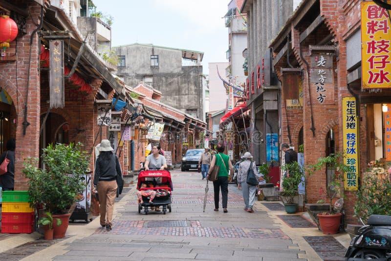 Shenkeng老街道-豆腐资本在台北,台湾 免版税图库摄影