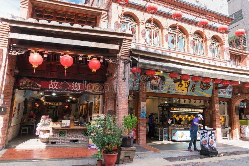 Shenkeng老街道-豆腐资本在台北,台湾 库存照片