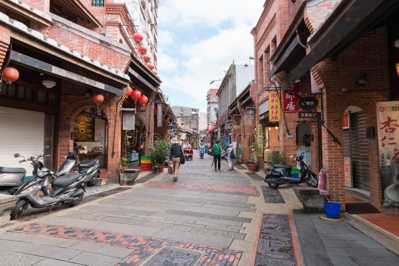 Shenkeng gammal gata - Tofuhuvudstaden i Taipei, Taiwan royaltyfri bild