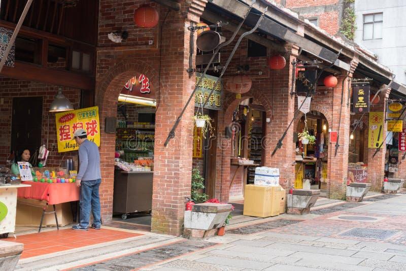 Shenkeng gammal gata - Tofuhuvudstaden i Taipei, Taiwan arkivbild