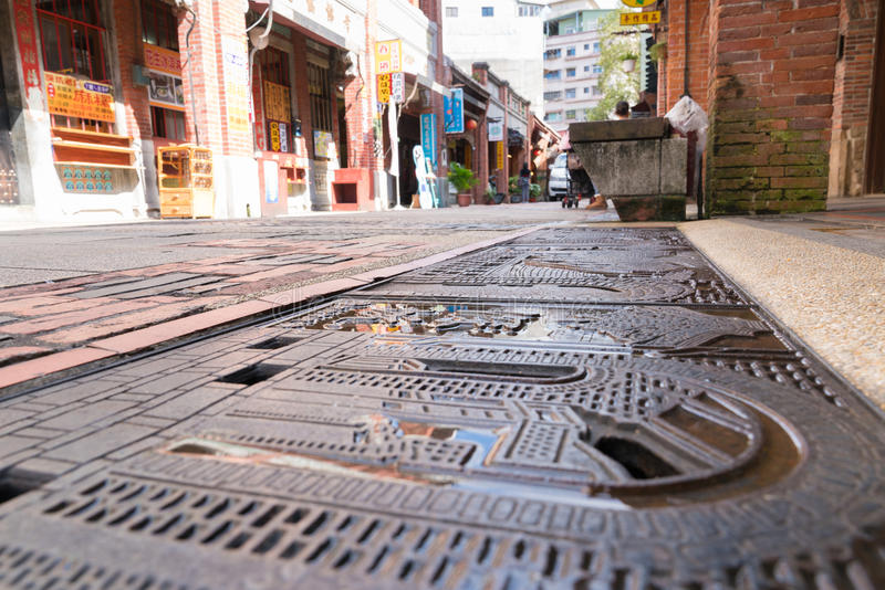 Shenkeng gammal gata - Tofuhuvudstaden i Taipei, Taiwan arkivbilder