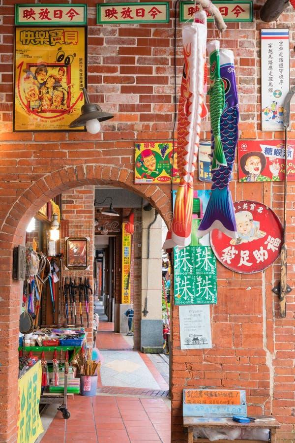 Shenkeng Oude Straat - het Tofu Kapitaal in Taipeh, Taiwan royalty-vrije stock fotografie