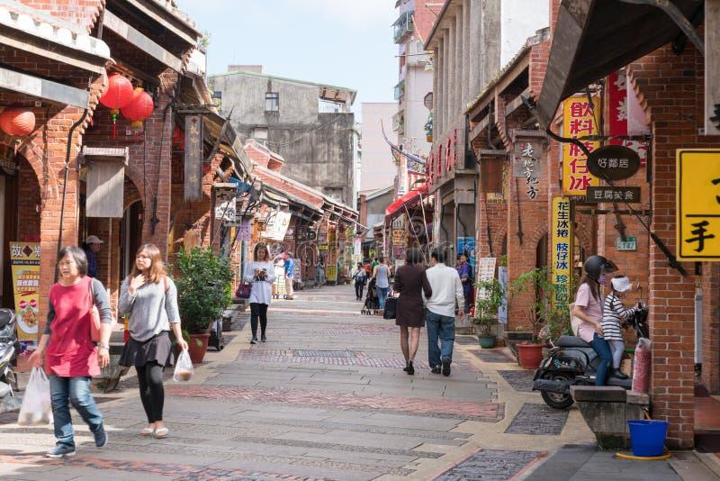 Shenkeng Stara ulica - Tofu kapitał w Taipei, Tajwan zdjęcie stock