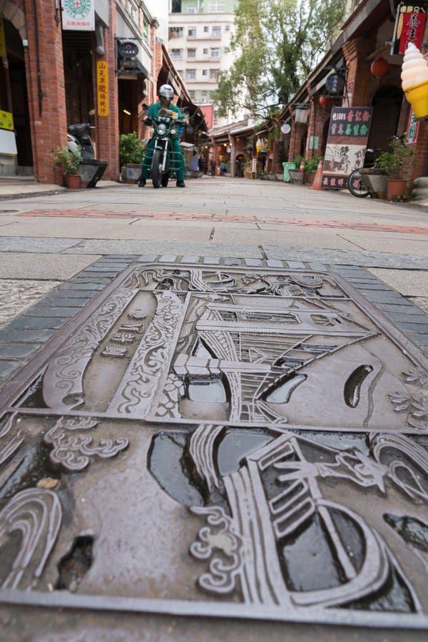 Shenkeng Stara ulica - Tofu kapitał w Taipei, Tajwan zdjęcia stock