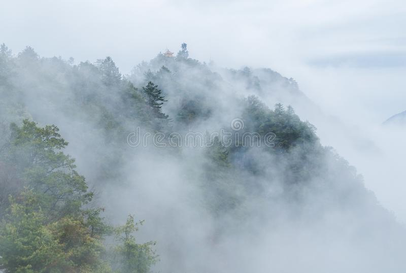 ShenNongJia Tianyan Mountain in winter. Hubei shennongjia scenic spot.Shennongjia forest region: to manifest the precious value of ecological protection and royalty free stock photography