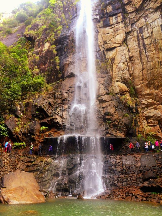 Shenxianju山峭壁瀑布 免版税库存图片
