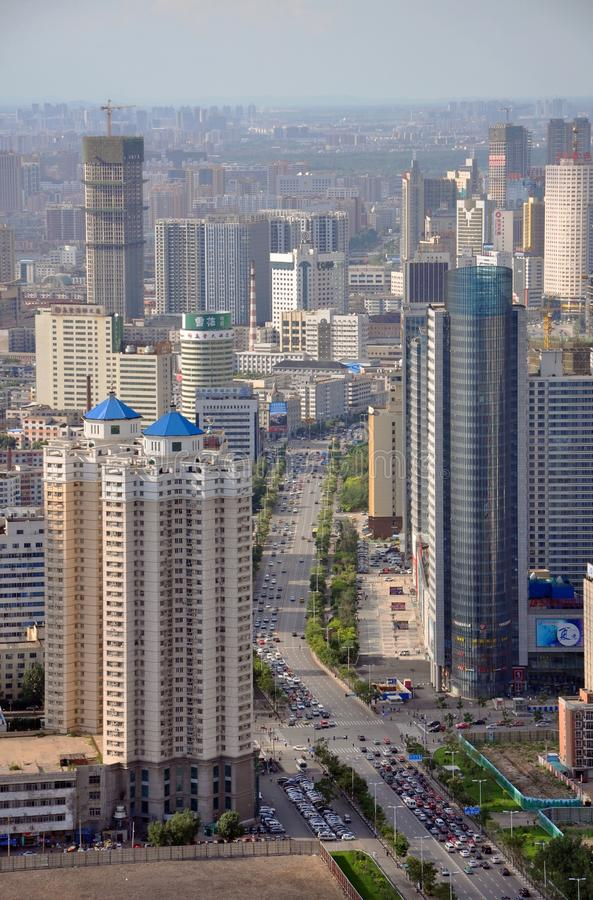 Shenyang CBD, Chine image libre de droits